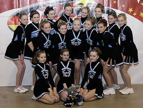 Junior-Cheer bei UCX - Cheerleader Dresden